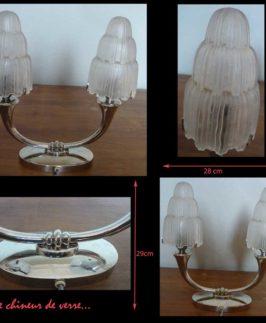 """Paire de lampes doubles """"petites cascades"""" de Sabino"""