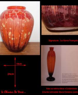 """Vase Le Verre Français """"Cardamines"""""""