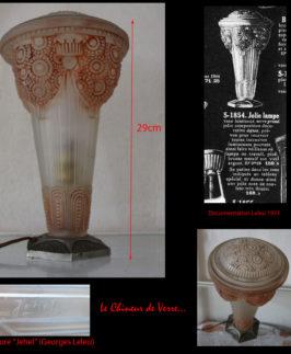 Paire de lampes Georges Leleu
