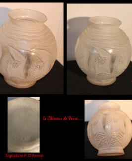 """Vase De Pierre D'Avesn modèle """"Oies cendrées"""""""