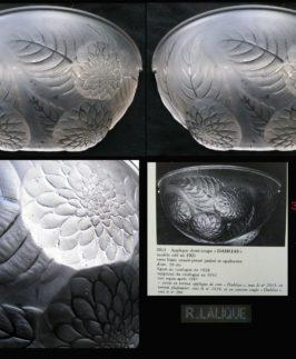 Paire d'appliques Dahlias R. Lalique
