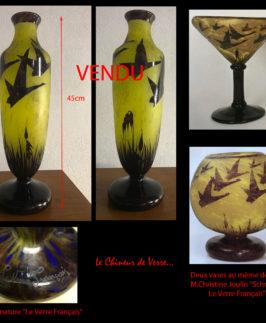 """Le Verre Français : Vase décor """"Halbrans"""""""