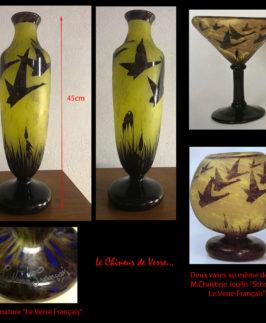 """Vase Le Verre Français décor """"Halbrans"""""""