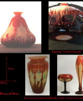 Le Verre Français : Vase modèle Coprins