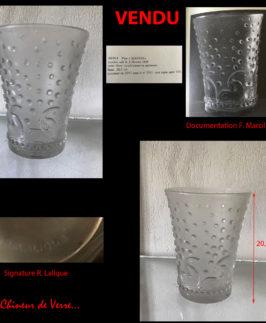 R. Lalique : Vase Ajaccio