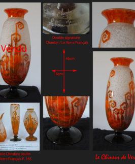 """Le Verre Français : Vase modèles """"Fougères"""""""