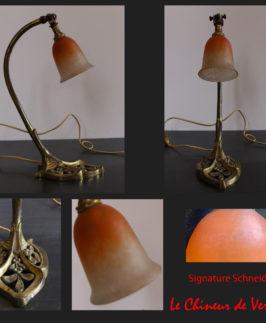 Schneider : Lampe Art Nouveau