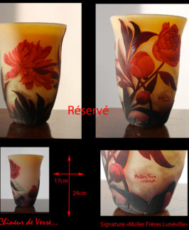 Muller : Vase aux Pivoines