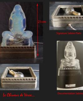 """Sabino : Statuette éclairante """"L'idole"""""""